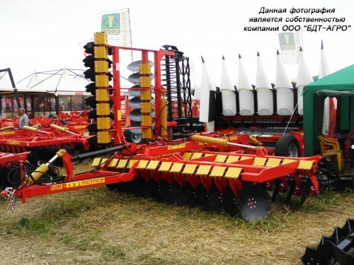 Борона дисковая БДМ-В КОРТЕС на стойках с эластомерами производства БДТ-АГРО